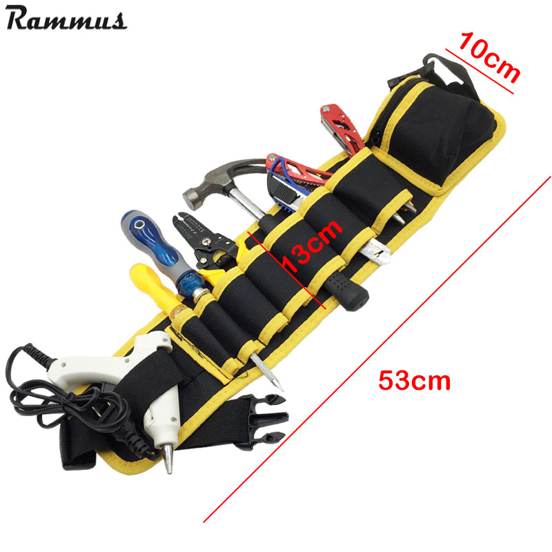 Adjustable Waist Pocket Belt Tool Bag 4 Color Pouch Hammers Pliers Screwdriver Holder Storage Hand Repair Tool Electricians High Quality And Inexpensive Tool Organizers