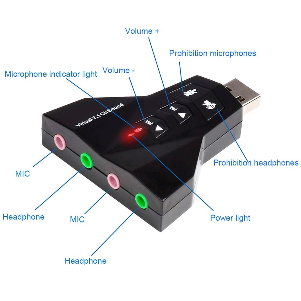 Aliexpress com : Buy USB 2 0 Audio External Sound Card Virtual 7 1 Channel  Double Adaprter for Windows 98se/Me/2000 /Vista  Linux  Mac05 10 or Higher