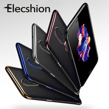 Luxury Plating Protective Case For OnePlus 7 Pro 6T Ultra Thin Silicone Soft TPU Transparent Phone 6 5T Cover