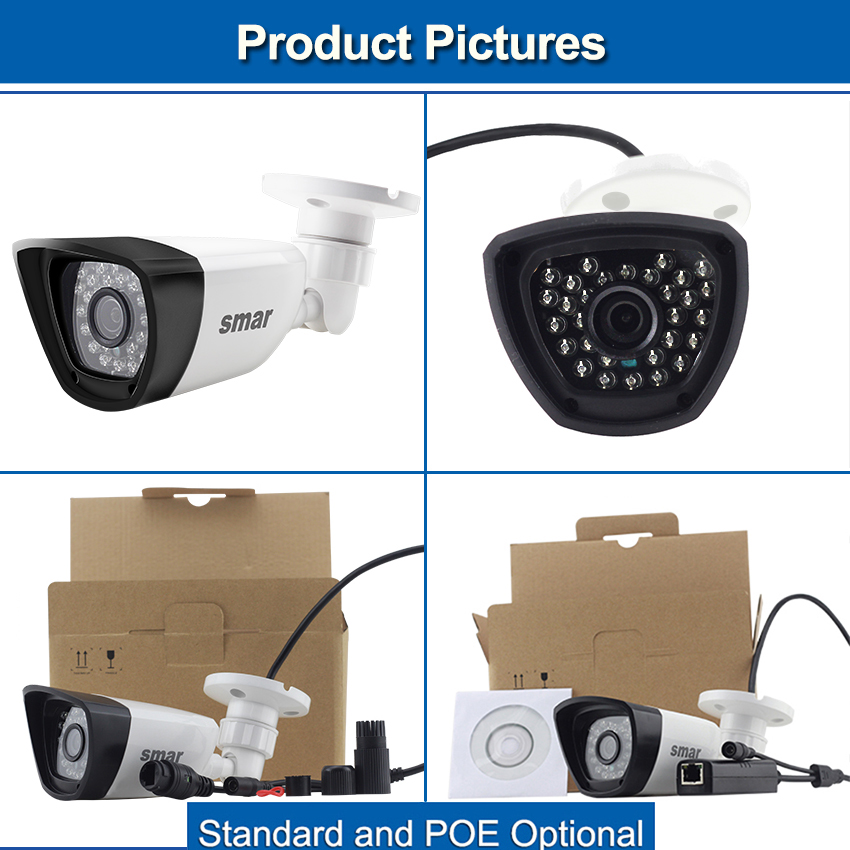 Image 5 - Smar HD H.265 1080P IP Camera 20FPS Outdoor Waterproof Street Security Camera 30PCS IR LEDS 15 25M XMEYE P2P Free ONVIF Plastic-in Surveillance Cameras from Security & Protection