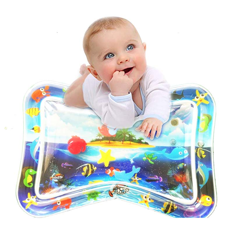 Baby Tummy Time Playmat Inflatable Baby Water Mat Activity Toddler Play Center