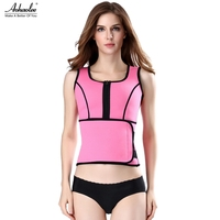 Aohaolee New Hot Neoprene Sauna Suit Tank Top Vest With Adjustable Shaper Waist Trainer Belt For