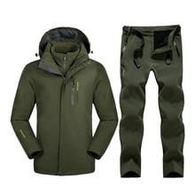 5 colors Mountain Skiing Ski-wear Winter Waterproof Hiking Outdoor jacket Snowboard jacket Ski suit Man Large Size Snow jackets