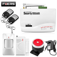 FUERS Russian English Voice Wired Wireless GSM Alarm System Dual Antenna GSM Home Alarm Systems Security GSM Alarm App Control