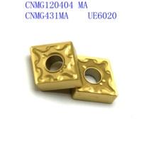 קרביד הכנס הפיכת כלי 20PCS CNC מחרטה כלי CNMG120404 / CNMG431 MA VP15TF / UE6020 חיצוניים הפיכת כלי, קרביד הכנס כרסום הכנס (2)