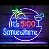 It Is 5 Pm Somewhere Neon Sign Beer Neon Bulbs Real Glass Tube Handcrafted Neon Beer