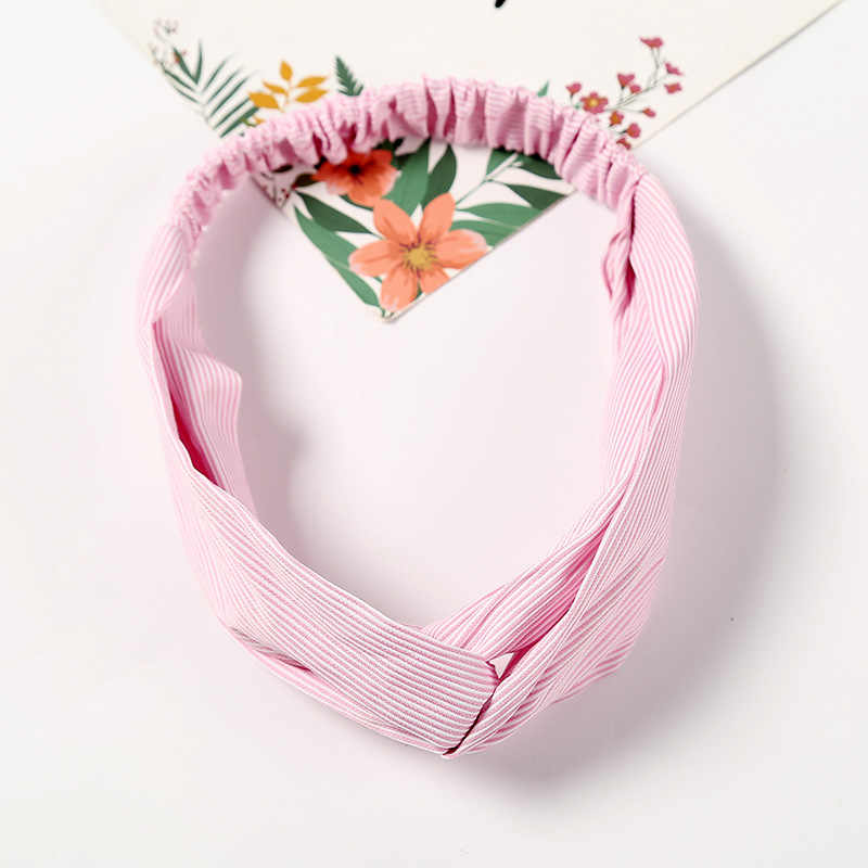Fashion Stripe Knot Headband Elastic Hair bands Headwrap Floral hair Scrunchies for Women Girls Hairband Bandanas Accessories