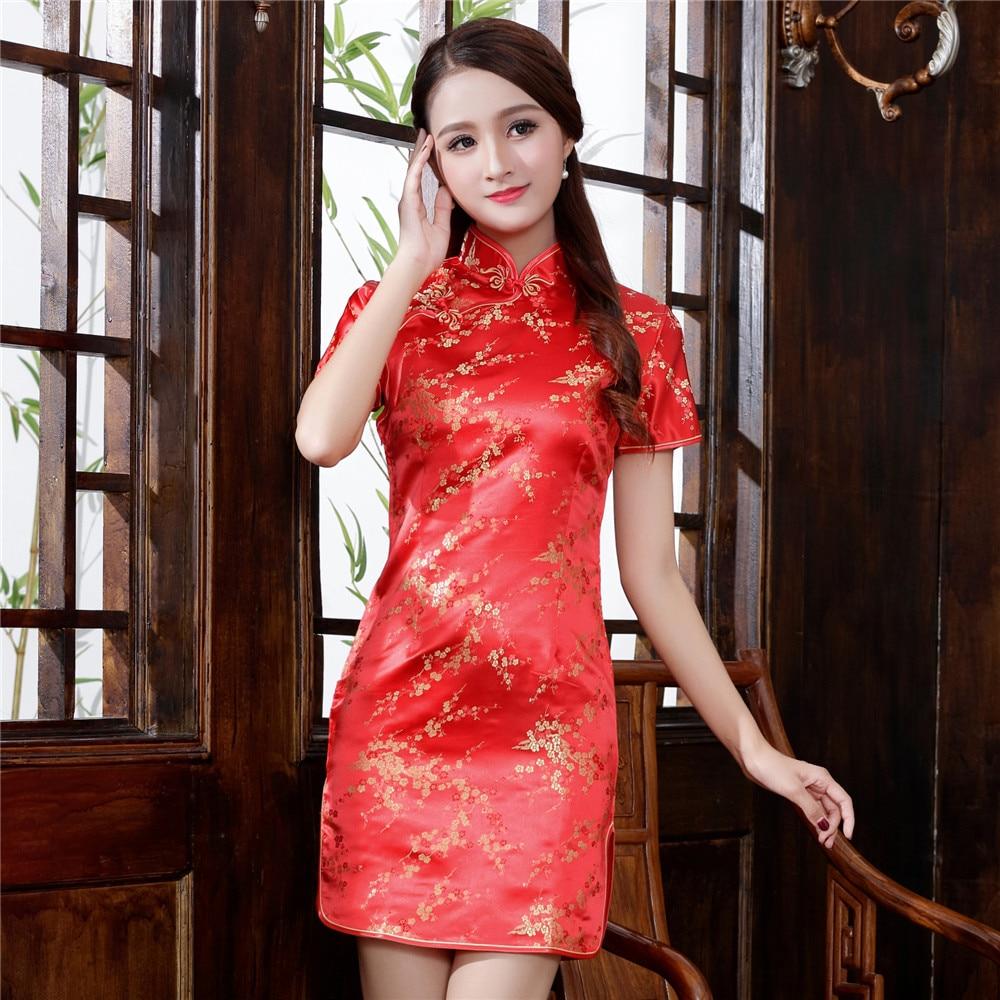 Plus Size 3XL 4XL 5XL 6XL Chinese Qipao Klassieke Vrouwen Satijn Cheongsam Oosterse Bruid Trouwjurken 2020 Nieuwe Avond Party gown 2