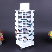 Sunglasses Holder Rack Glasses Show Display Stand Organizer, Can Hold 28 Pairs of Glasses, 360 Degree Rotating