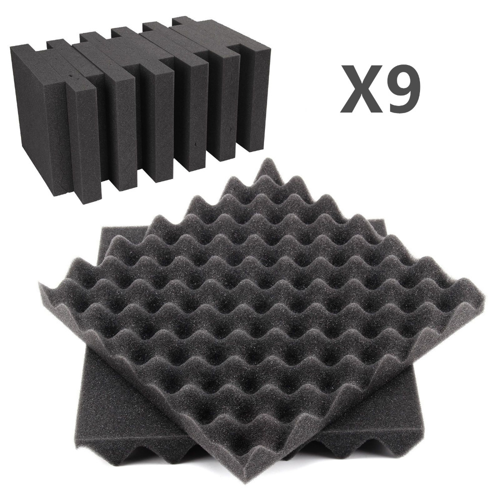 Dichtleisten 30x30x5 Cm Schallschutzschaum Studio Akustische Behandlung Absorption Keil Fliesen