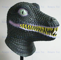Amusement Park Artificial Animatronic Latex Dinosaur Mask For Sale