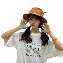 все цены на 2019 Women Bucket Summer Hat Concise Casual All-match Solid Color Sunscreen Travel Folding Bucket Hats