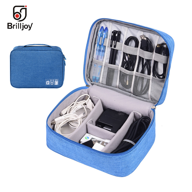Brilljoy Portable Electronic Accessories Travel Case Cable Organizer Bag Gear Carry Bag For Cables USB Charger Flash Drive Etc
