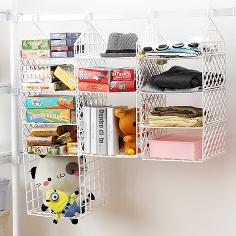 White Collapsible Closet Storage Shelf Rack With Hooks Bag Coat Clothes Hat  Holder Storage Organizer For Home Decoration In Storage Holders U0026 Racks  From ...