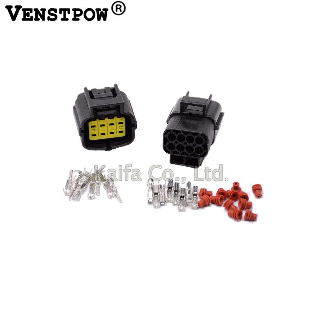 5 set 8 Pin Way Waterproof Wire Connector Plug Car Auto