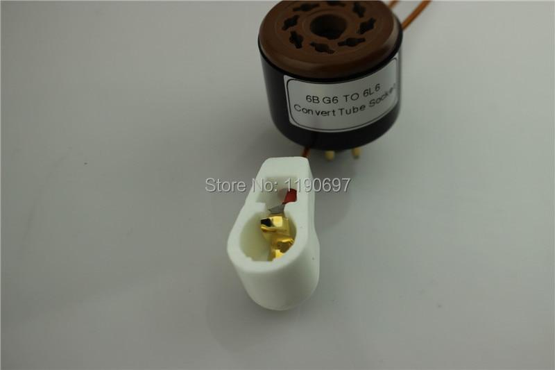 1Piece 6BG6 TO 6L6 Tube 8Pin TO 8Pin DIY Audio Vacuum Tube Adapter - Kućni audio i video - Foto 6