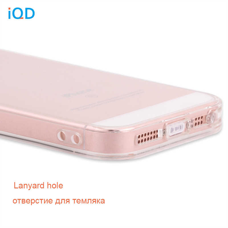 IQD ل أبل فون SE حالة الوفير غطاء امتصاص الصدمات الوفير و المضادة للخدش واضح عودة ل فون 5 5S SE الحالات