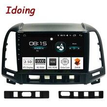 Idoing 9 «2.5D ips экран автомобиля Android 8,0 Радио мультимедийный плеер Fit hyundai SANTA FE 2007-2011 4 г + 64 Восьмиядерный gps навигации