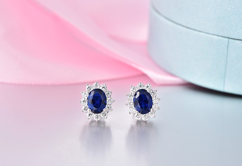 luxury wedding earrings for brides with crystal NE89300L (10)