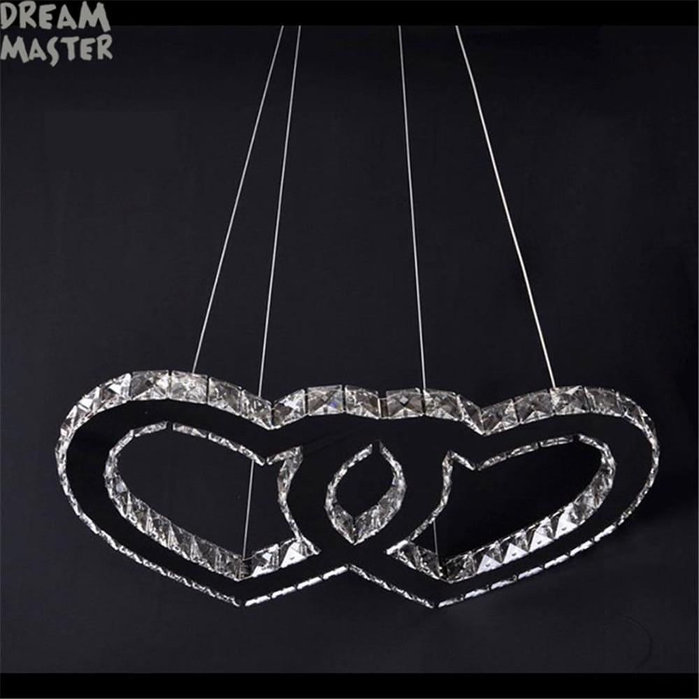 Novi dizajn LED privjesci svjetiljke Moderno kristalno srce u - Unutarnja rasvjeta - Foto 4