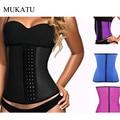 MUKATU Hot Body Shaper Steel Bone Waist Shaper Corset Waist Trainer Women Waist Cincher Slim Belt Latex Shapewear