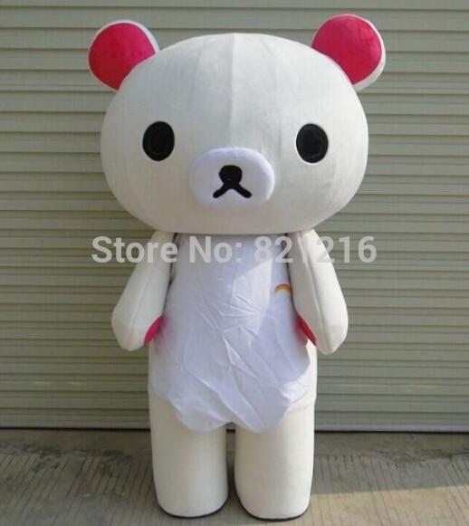 Mascotte de dessin animé japonais Rilakkuma mascotte Costume Korirrakuma robe ours mascotte livraison gratuite