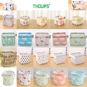 Thours Desktop Storage Basket Sundries Underwear Toys Bax Cosmetics Small Items Finishing Container Makeup Organizer Case