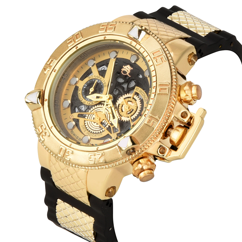 2019 New Style Unbeaten Model Super Rotating Dial Stopwatch Luminous Calendar Multifunction Men's Quartz Watch