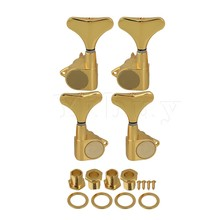 Yibuy Gold J OR P Bass Tuners Machine Heads Tuning Pegs(2L+2R)