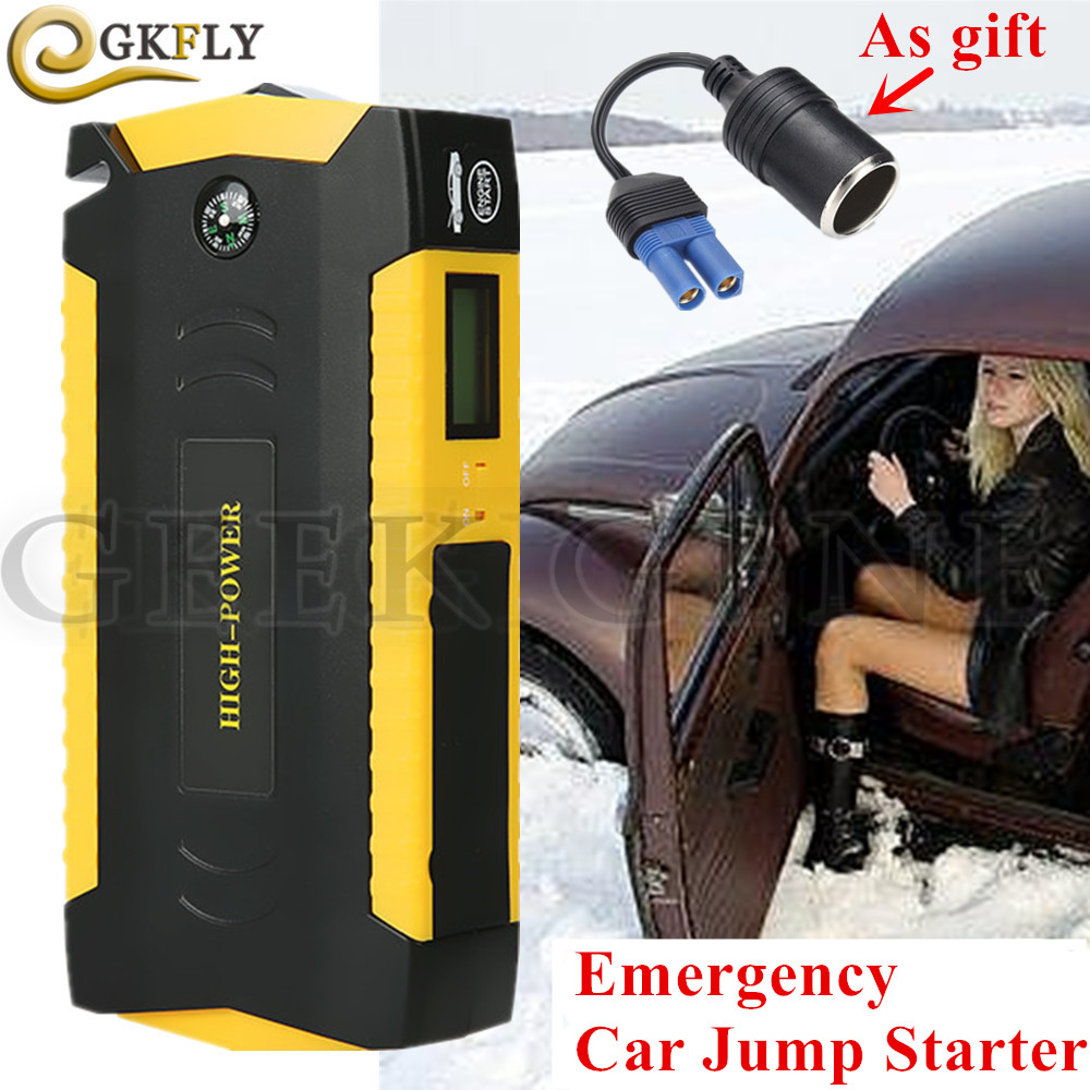 Notfall Auto Starthilfe 16000 mah Tragbare Ausgangs Gerät Power Bank 12 v 600A Auto Ladegerät Für Auto Batterie Booster buster LED