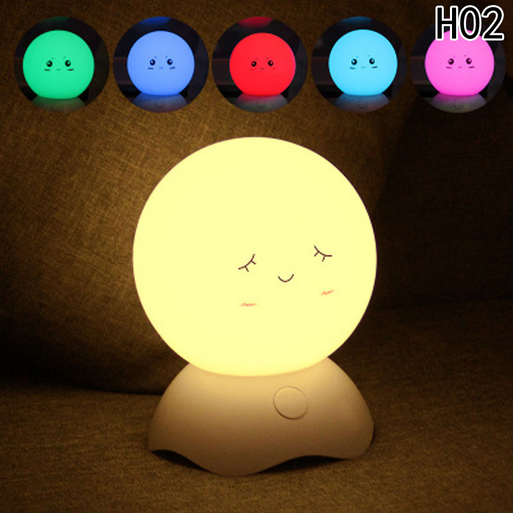 Silicone LED Night Light Children RGB Touch Sensor Night Lamp USB Rechargeable Bedroom Light for Children Baby