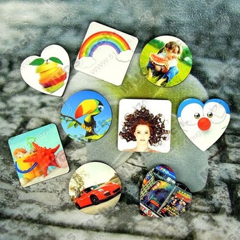 100pcs/lot sublimation blank DIY Fridge Magnets Wooden round MDF Personal Refrigerator Sticker Creative Magnets  Birthday Gift
