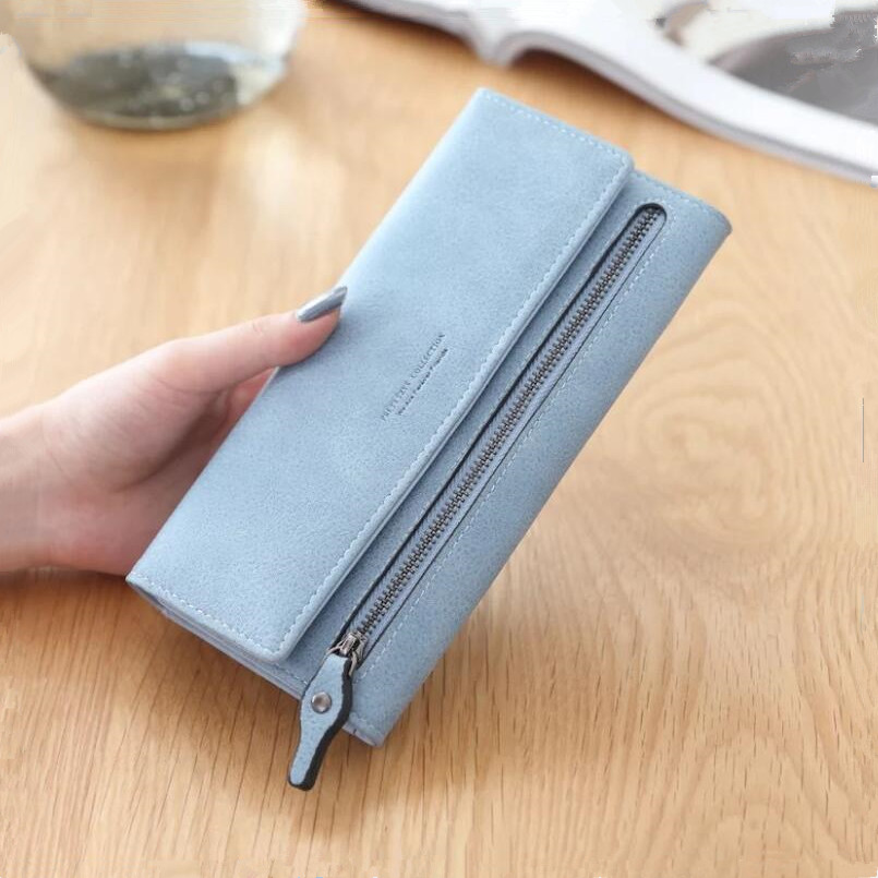 ladies long leather wallet female purse women bank card holder girls slim phone wallet change purse new year 2018 girl gift