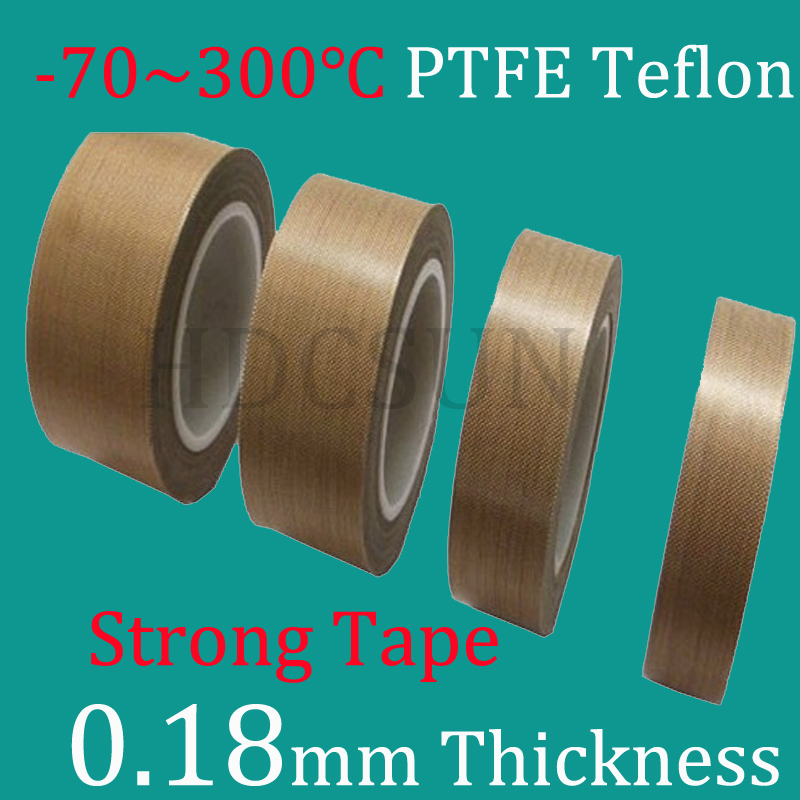 1 Roll 10m*0.18mm thickness PTFE Teflon Adhesive Tape Cloth Hi-Temp Insulate Teflon Adhesive Tape Insulating multi color 1 roll 20m marking tape 100mm adhesive tape warning marker pvc tape