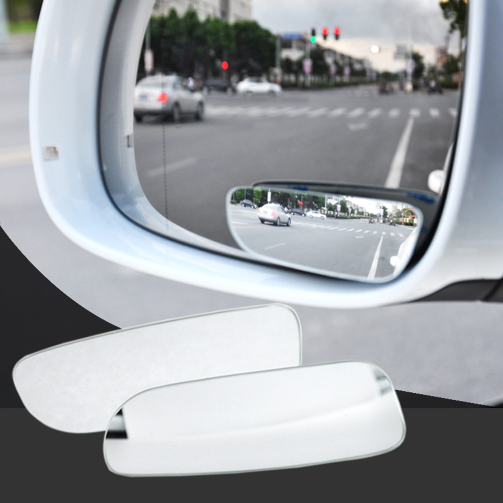 2XCar Wide Angle View Side Spot Rear Side Auxiliary Mirro Rearview Blind Applied