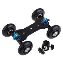 Lightdow 2 em 1 Fotografia Ferroviário Rolamento Pista Skater Slider Table Dolly Car + Q29 Mini Bola de Cabeça para DSLR câmeras/Comcorders