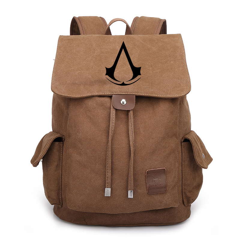 Assassins Creed Backpack Anime Cosplay Video Game Movie Laptop Shoulders Bag Schoolbag Rucksack