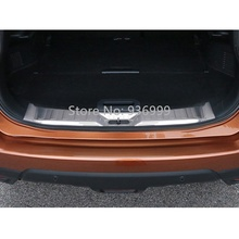Stainless Steel Rear Bumper Locker Protector Sill Plate Stickers Suitable for Nissan X Trail X-Trail 2014 2015 Car Accessories