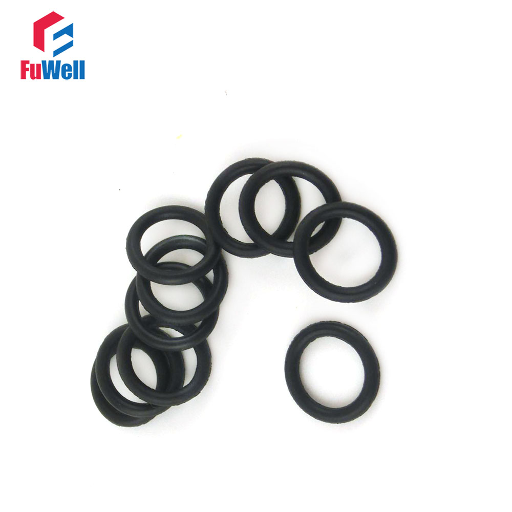 50 Pcs Black 60mm x 2mm Rubber Oil Resistant Sealing Ring O-type Grommets