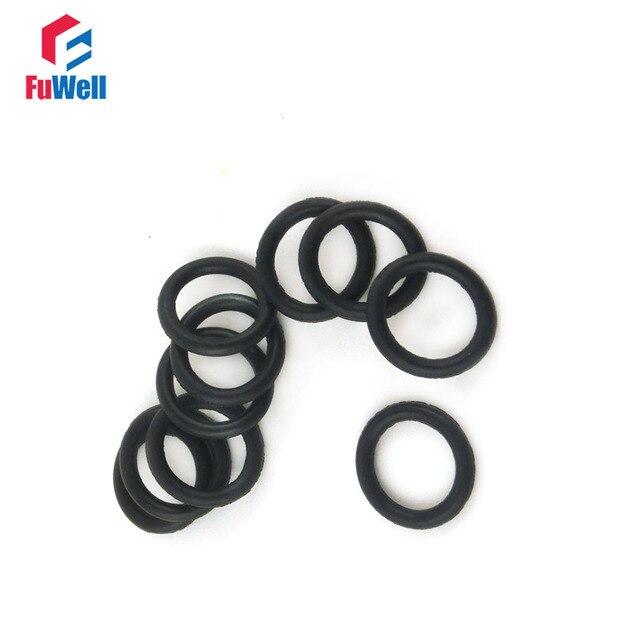 Aliexpress.com : Buy 100pcs 2mm Thickness Black Rubber O Ring ...
