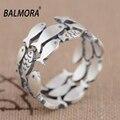 Balmora 100% real 990 prata pura jóias peixe anéis bonitos para As Mulheres Meninas Anéis Animais Presentes Do Partido Anel de Prata Bijoux SY21015