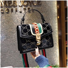 Designer Women's Bag Rivet Chain Messenger Shoulder Bags Female Skull Clutch Famous Brand 2019 Luxury Handbag Women Bag women rivet handbag pu leather luxury handbags women bags designer chain shoulder bag skull cluth female messenger bolsa ss0306