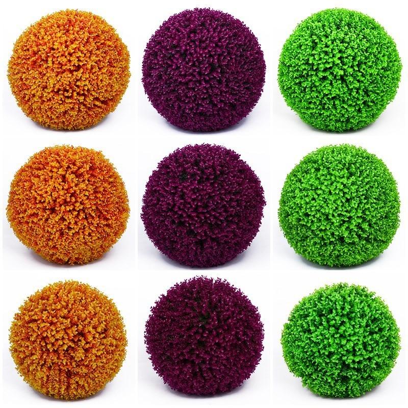 Large Artificial Plants Plastic Boxwood Balls Eucalyptus Balls Milan Grass Ball Wedding Party Home Outdoor Decoration Bonsai
