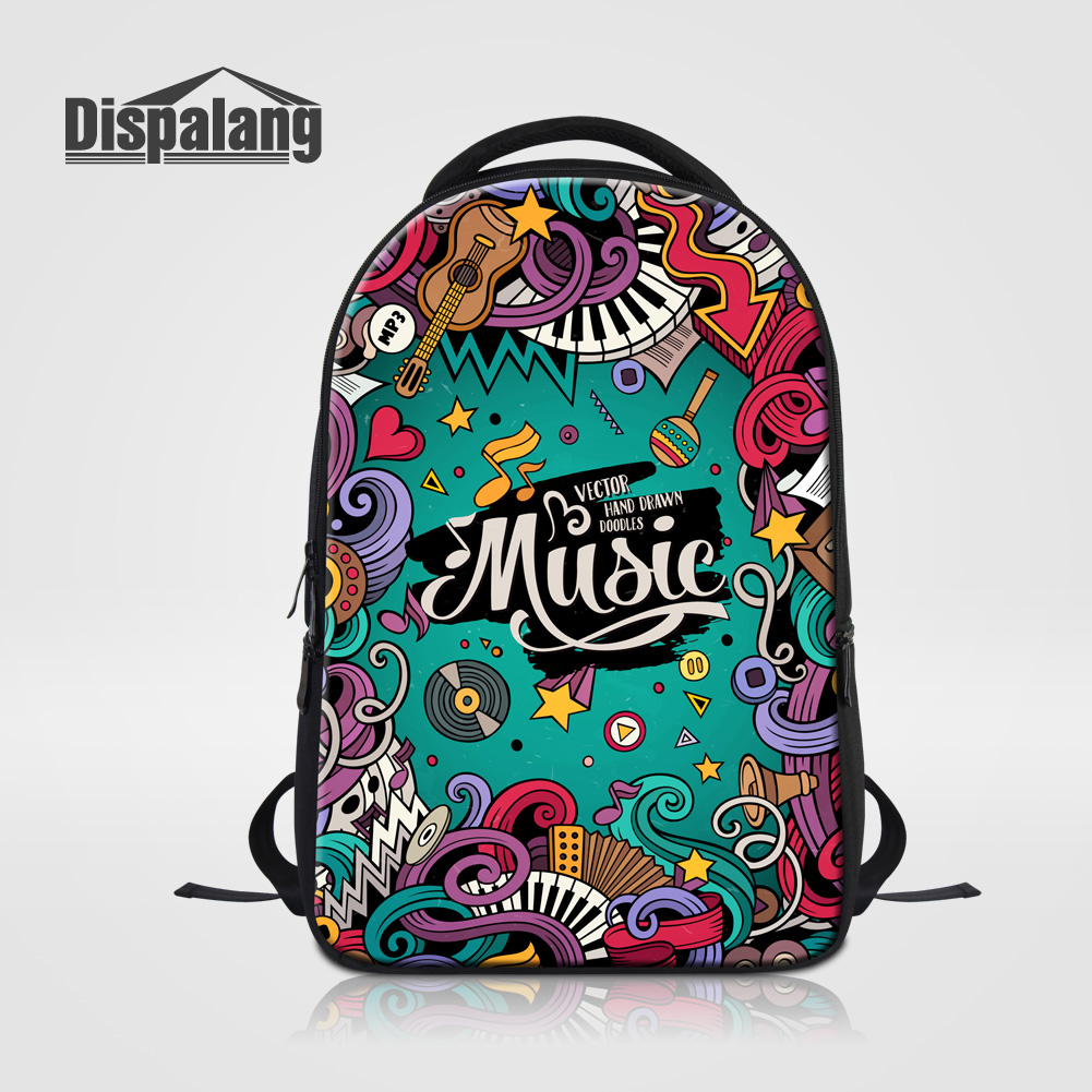 Dispalang Fashion Backpack Women Mochila Feminina Masculina Girls Large Travel Knapsack Musical Note Printing Laptop Bags