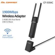 1900 Мбит/с) Wi-Fi 5 ГГц USB3.0 Вай-Фай адаптер Dual Band RTL8814AU внешняя антенна Wifi ключ настольный ПК/ноутбук/ПК сетевой адаптер внешний кабель