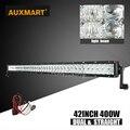 """Auxmart 42"""" 400W 5D LED Light Bar Straight Combo Beam Bar Light For Offroad 4x4 4WD pickup Trailer SUV ATV 12v 24v Driving Light"""