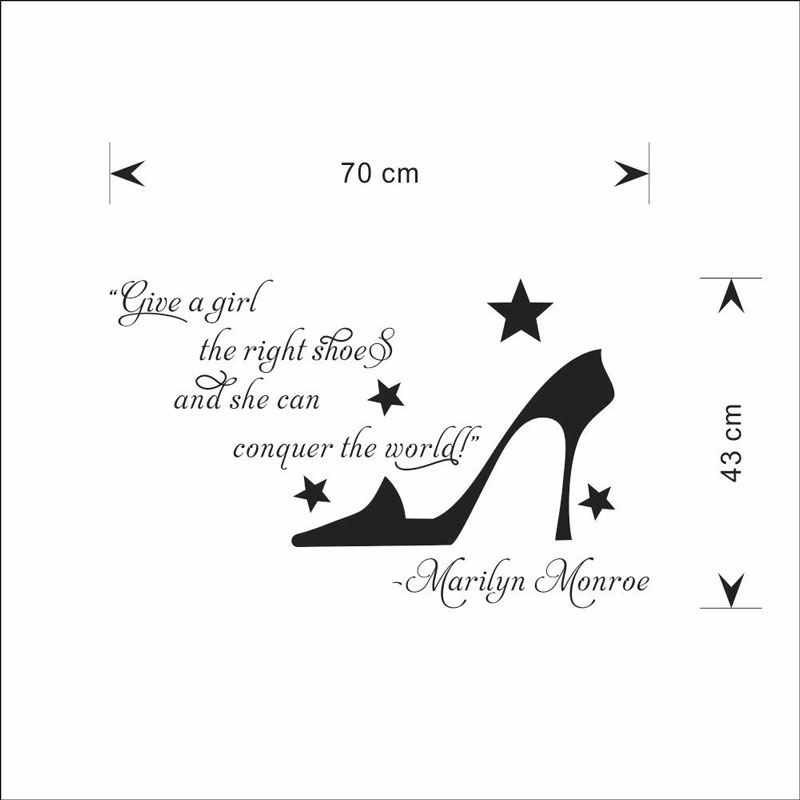 give a girl High heels sticker Removable waterproof Living room bedroom background home decor pvc Generation wall stickers