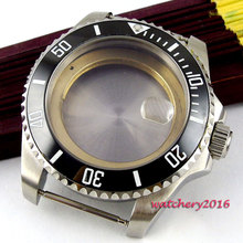 43mm sapphire glass stainless steel case fit ETA 2824 2836 movement Watch Case цена и фото