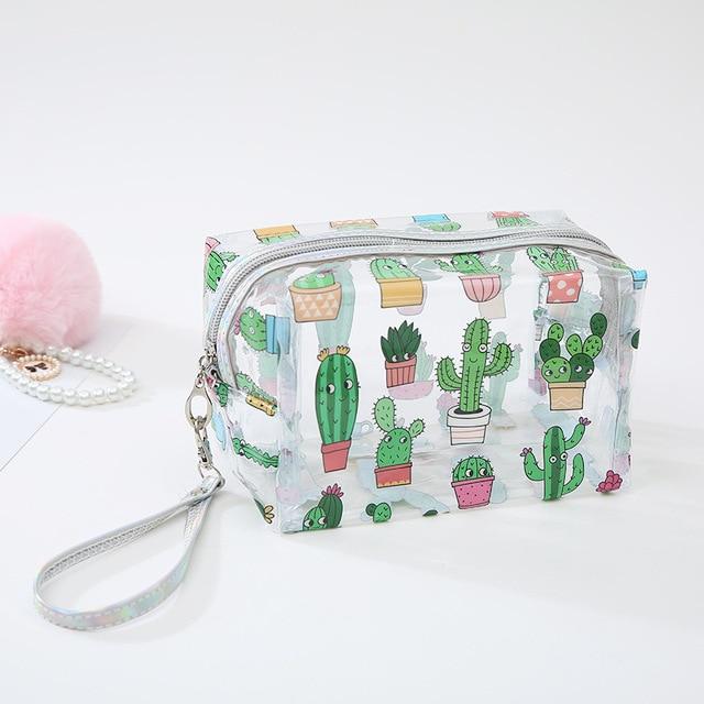 Cute Unicorn Transparent Cosmetic Bag