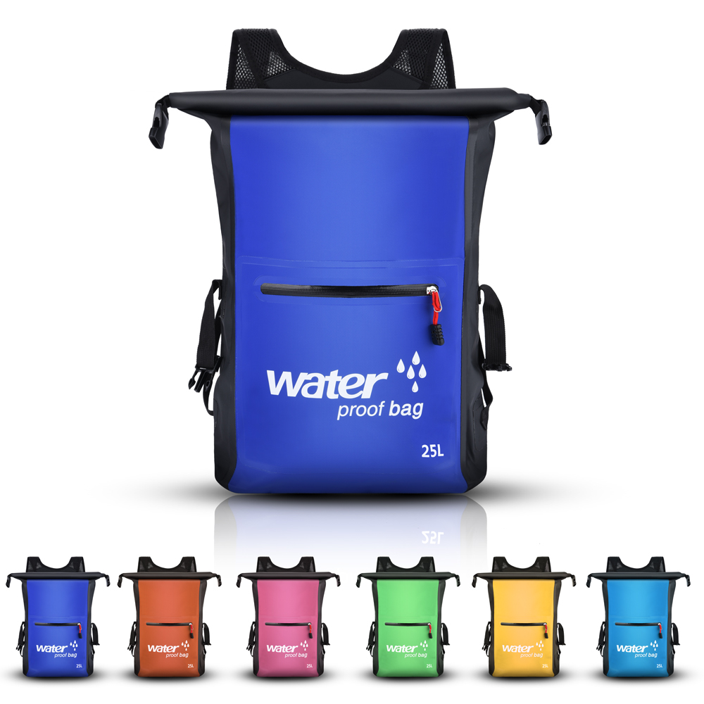 25L Dry Bag Waterproof Backpack Rucksack Storage Pack Sack Swimming Rafting Kayaking Camping Floating Sailing Canoe Boating